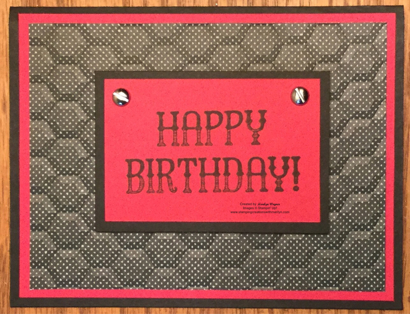 masculine happy birthday stamping creations with marilyn