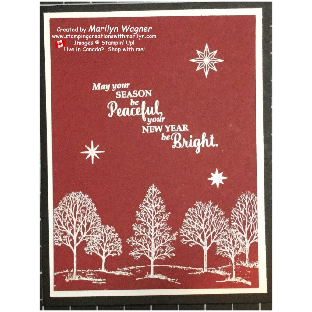 Lovely As A Tree Embossed Christmas